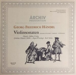 Corelli, Handel Complete Sonatas for Violin / Eduard Melkus